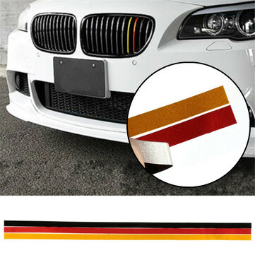 M-Sport Grille Grill Vinyl Strip Sticker Decal For BMW M3 M5 E46 E90 German Flag