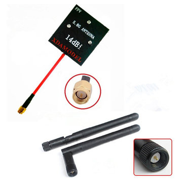 Hubsan H501S H107D+H502S Enhanced FPV Distance 5.8Ghz 14dBi Panel Antenna 2.4GHz 3dBi Antenna