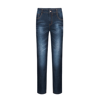 QIPAI Men Fashion Casual Straight Leg Slim Fit Washed Joker Jeans