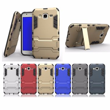 2 in 1 Armor Back Case Shockproof Cover Phone Holder Protective Shell for Samsung Galaxy J5 (2015)