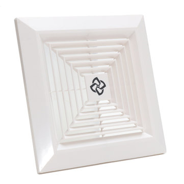 White Plastic Grille Ceiling Fan Ventilation Cover Replacement for Bathroom Office