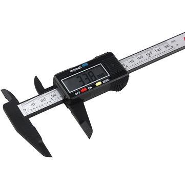 ANENG 150mm 6inch LCD Digital Vernier Caliper Electronic Micrometer Carbon Fiber