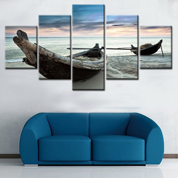 5Pcs Set Boat Modern Canvas Print Paintings Wall Art Pictures Home Decor Unframed