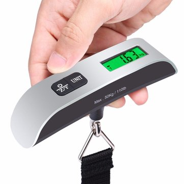 50KG Electronic Digital Travel Suitcase Luggage Weighing Scale With Backlight