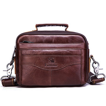 Genuine Leather Men Bag Fashion Business Messenger Bag