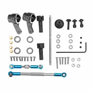 WPL Truck Update Metal Front Gear Bridge Axle Set For B1 B24 B16 C24 1/16 4WD 6WD RC Car Parts
