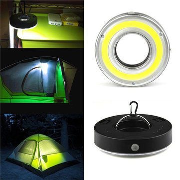 Battery Powered Mini Outdoor Work Light Emergency COB LED Camping Light with 3 modes