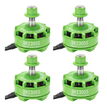 4X Racerstar 2305 BR2305S Green Edition 2400KV 2-5S motore senza spazzola per 210 220 250 300 RC Drone FPV Racing