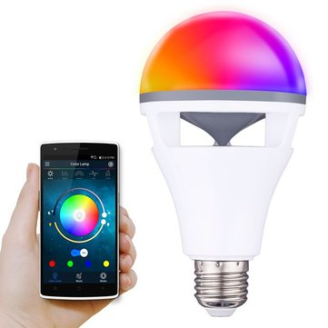 E27 5W RGBWW Colorful LED Bluetooth Speaker Smart Globe Light Bulb APP Control AC85-265V