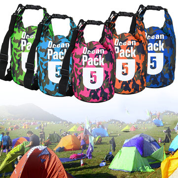 5L Waterproof Bag Camping Rafting Storage Dry Bag Swimming Bag Lightweight Diving Floating Bag
