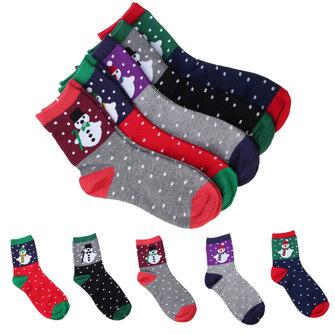Women Girl Cotton Christmas Gift Santa Snow Man Dot Ankle Socks Cartoon Stocking Hosiery