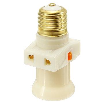 E27 Socket Pure Copper Chandelier Ceiling Vintage Switch Lamp Converter