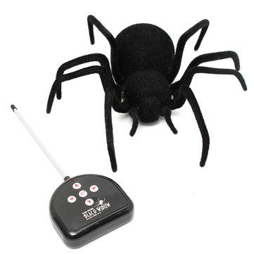Control remoto de 4 canales rc negro araña viuda juguete miedo