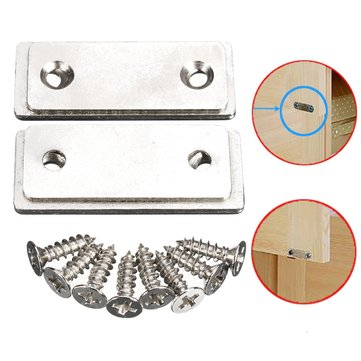 2Pcs Magnetic Catch Latch Ultra Thin for Glass Door Furniture Cabinet Cupboard