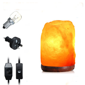 14 X 10CM Natural Himalayan Ionic Air Purifier Rock Crystal Salt Lamp Table Night Light