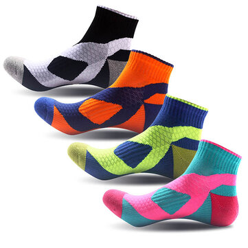 Outdoor Mountaineering Sports Sweat Socks Men Women Contrast Color Thick Cotton Tube Socks