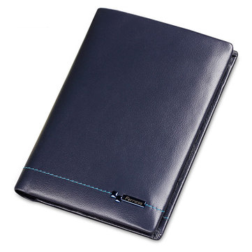 Genuine Leather Slim Wallet Men Minimalist Wallet