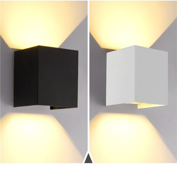 12W Up/Down Wall Sconces Light Warm White/White WaterproofLamp for Home Bedroom AC85-265V
