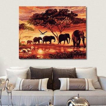 RUOPOTY Filler Manzara DIY Sayılarla Dijital Resim Modern Duvar Sanatı Tuval Boyama Ev Dekoru İçin Benzersiz Hediye 40x50cm