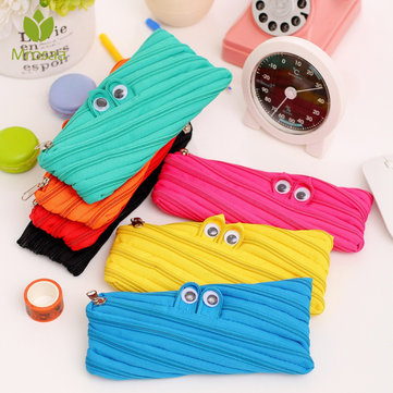 1pcs Zipper Eye Multifunction Cartoon Pencil Case For School Stationery Supplies Pen Bag Gift