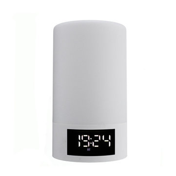 LEORY M6 Home Alarm Clock Portable Wireless Bluetooth Speaker LED Light FM Radio Handsfree Speaker