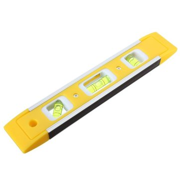 230mm Handheld Torpedo Magnetic Straight Spirit Level Ruler With 3 Bobble Vials