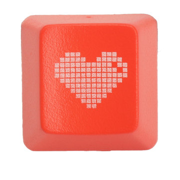 Red Heart R4 Esc ABS Translucent Backlit Keycaps For Mechanical Gaming Keyboard