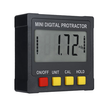 Mini Digital Magnetic Angle Meter Inclinometer Level Meter Bevel Gauge Angle Finder 4 x 90° Range