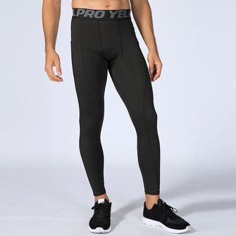 Mens Sport Running Training Elastic Leggings