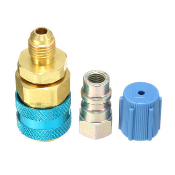 Car Air Conditioner Red High and Blue Low R134A Quick Coupler Adapter