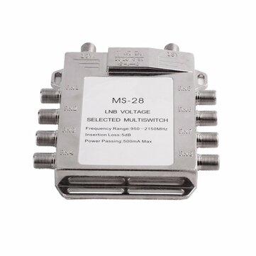 Jasen JS-MS28 2 in 8 Diseqc Switch Satellite Multiswitch Satellite Antenna Flat LNB Switch for TV Receiver