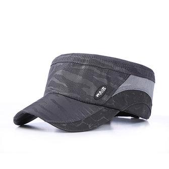 Hommes Été Thin Breath Bicyclette plat casquette en plein air Snapback chapeaux