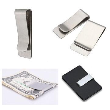 Slim Stainless Steel Money Clip Pocket Wallet Credit Card Holder