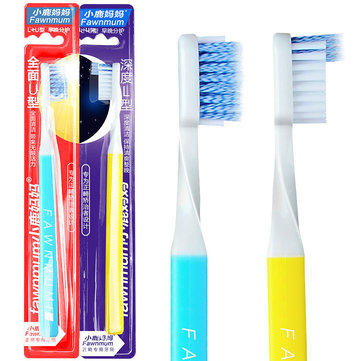 Fawnmum Dental Cleaner Orthodontic Toothbrush U-Type L-type Interdental Brushes Gum Oral Care Tool