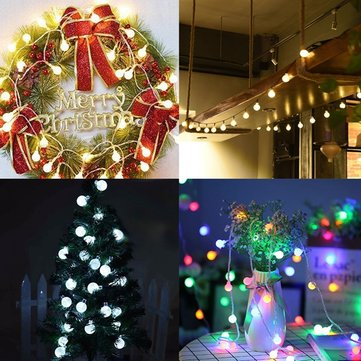Battery Powered 3M 20LEDs Crystal Ball Fairy String Light for Christmas Party Wedding