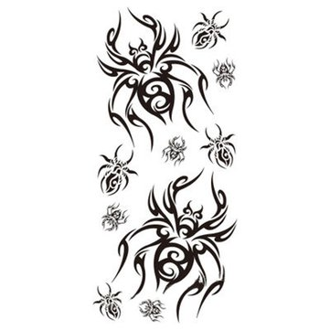 10pcs Halloween Spider Terror Tattoo Sticker Temporary Waterproof Body Art Decal Makeup