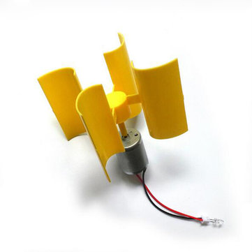 Miniature Vertical Axis Wind Alternative Energy Generator Small DC Wind Turbine DIY Technology Making Physical Power Principle