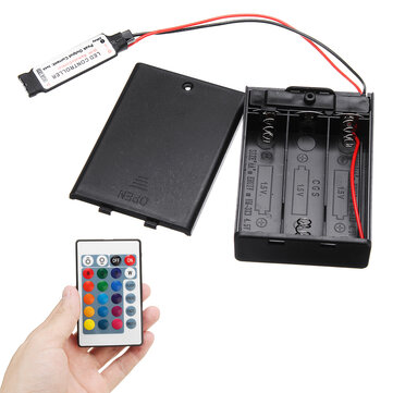 DC4.5V Mini RF Controller Battery Box with 24 Keys Remote Control for RGB LED Strip