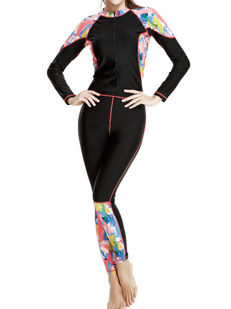 Professional Patchwork Front Zipper Surfing Suit