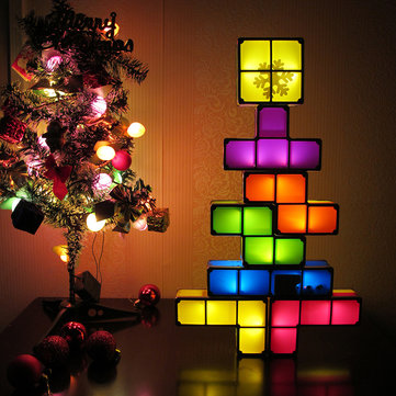 Diy tetris puzzle novelty led night light stackable led desk table diy tetris puzzle novelty led night light stackable led desk table lamp constructible block kids toys aloadofball
