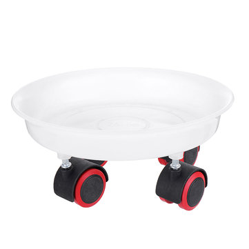 Round Rolling Garden Plant Flower Pot Moving Wheels Trolley Plate Resin Stand