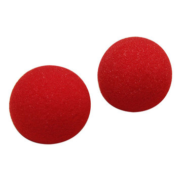 2PCS Close Up Magic Street Trick Soft Sponge Ball Props Clown Nose