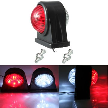 12V E8 E-marked Truck Trailer Lorry Caravan Side LED Light Lamp Red White