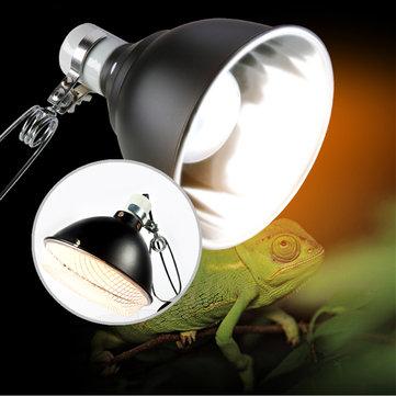 E27 UV光反射板ホルダーセラミック爬虫類トータスランプシェードクランプ(スイッチ付)