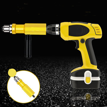 Drillpro Electric Riveter Nut Gun Riveting Tool Metal Cordless Riveting Drill Adapter