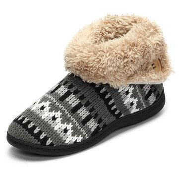 Neve donne stivali invernali casa scarpe di cotone peluche mantenere appartamenti casuali caldi