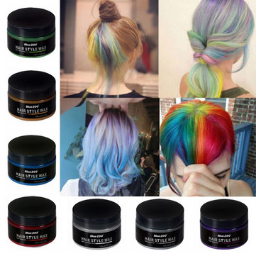 7 Colors Disposable Hair Color Wax Fashion Dye Wax Mud Temporary Hair Styling Dyes Cream
