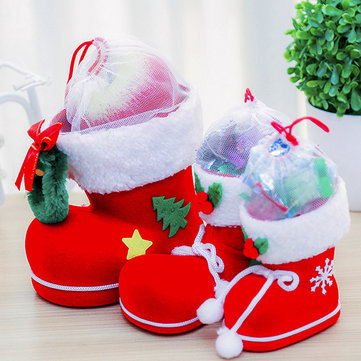 Christmas Candy Bag Santa Claus Boots Cute Holders 3 Size Festival Ornament Party Supplies For Even