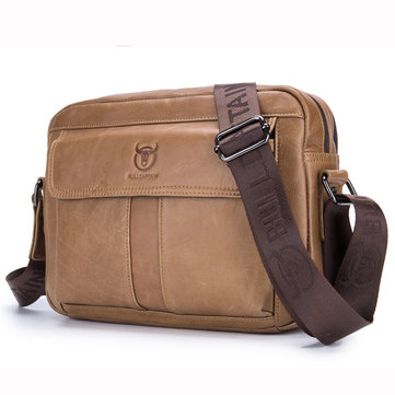 Bullcaptain Bag Men Genuine Leather Crossbody Shoulder Bag