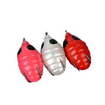 ZANLURE New Silkworm Chrysalis Egg Shape Fishing Lure High Simulation Soft Fishing Bait